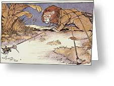 The Lion And The Mouse Greeting Card