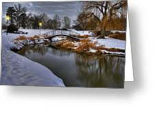The Lonely Bridge Greeting Card