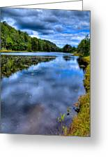 The Majestic Bald Mountain Pond Greeting Card