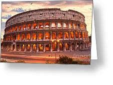 The Majestic Coliseum - Rome - Italy Greeting Card