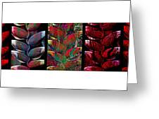 The Many Faces Of Heliconia  Greeting Card