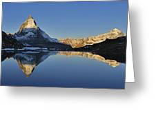 The Matterhorn And Riffelsee Lake Greeting Card