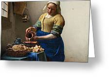 The Milkmaid Greeting Card