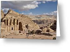 The Monastery El Deir Or Al Deir Greeting Card