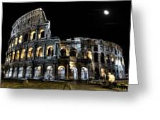 The Moon Above The Colosseum No2 Greeting Card