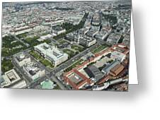 The Museums Area And Hofburg Palace Greeting Card