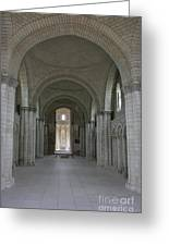 The Nave - Cloister Fontevraud Greeting Card