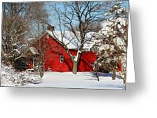 The Old Red House Greeting Card