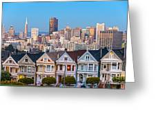 The Painted Ladies Of San Francisco Greeting Card