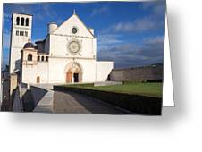 The Papal Basilica Of St. Francis Of Assisi  Greeting Card