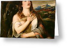 The Penitent Magdalene Greeting Card
