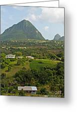 The Pitons In Saint Lucia Greeting Card