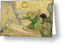 The Raising Of Lazarus Greeting Card