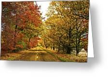The Road To The Fall Greeting Card