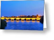 The Roman Bridge In Cordoba Greeting Card