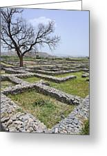 The Ruins Of Sirkap City At Taxila In Pakistan Greeting Card