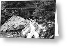 The Sinks Smoky Mountains Bw Greeting Card