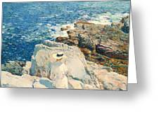 The South Ledges Appledore Greeting Card