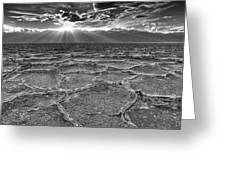 The Sparkle Of Badwater Greeting Card by Tony Santo