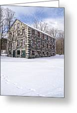 The Stone Mill At The Enfield Shaker Museum Greeting Card
