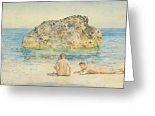 The Sunbathers Greeting Card