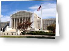 The Supreme Court Facade Greeting Card