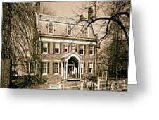 The Taft House - Brown University 1958 Greeting Card