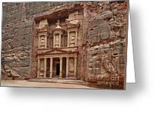 the treasury Nabataean ancient town Petra Greeting Card