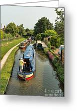 The Trent And Mersey Canal At Alrewas Greeting Card