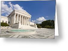 The Us Supreme Court Building Greeting Card