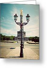 The Victory Column In Berlin Germany Greeting Card