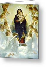 The Virgin With Angels Greeting Card