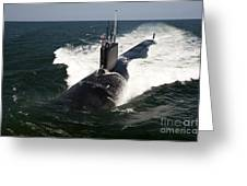 The Virginia-class Attack Submarine Uss Greeting Card