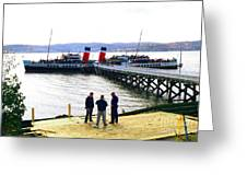 The Waverley Sails Down The River Clyde Greeting Card