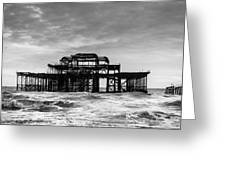 The West Pier In Brighton Greeting Card