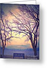 The Yesterday Bench Greeting Card