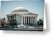 Thomas Jefferson Memorial In Washington Dc Usa Greeting Card