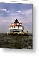 Thomas Point Shoal Lighthouse Greeting Card