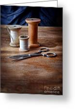 Thread And Scissors Greeting Card
