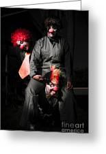 Three Clowns Having Fun Greeting Card