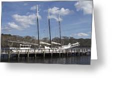 Three Mast Sailboat Greeting Card by Ralph Jones