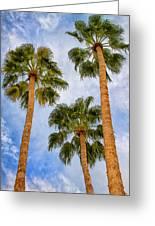 Three Palms Palm Springs Greeting Card