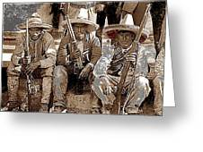 Three  Revolutionary Soldiers With Rifles Unknown Mexico Location Or Date-2014 Greeting Card