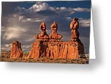Three Sisters Hoodoos Goblin Valley Utah Greeting Card