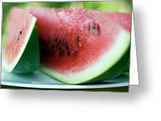 Three Slices Of Watermelon Greeting Card