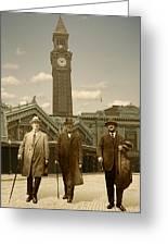 Three Stalwart Gentlemen Greeting Card