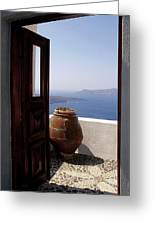Through This Door Greeting Card by Julie Palencia