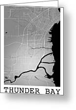 Thunder Bay Street Map - Thunder Bay Canada Road Map Art On Colo Greeting Card