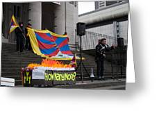 Tibetan Protest March Greeting Card