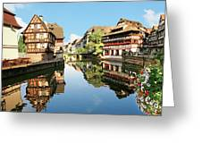 Timbered Buildings, La Petite France Greeting Card